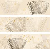 pic of accordion  - Vector Sketch accordion on a light background - JPG