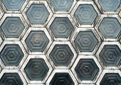 pic of interlock  - Hexagon Shaped Window Blocks Interlocking Wall Pattern - JPG