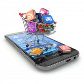 foto of cart  - Store of mobile software - JPG