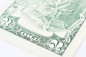pic of two dollar bill  - A close of a two dollars bill - JPG