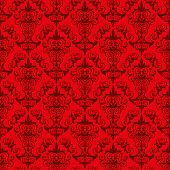 picture of dessin  - Red Floral Pattern  - JPG