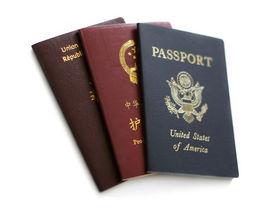 stock photo of passport template  - United States - JPG