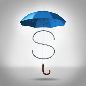 foto of tariff  - Tax shelter and security costs financial and business concept as a three dimensional umbrella shaped as a dollar symbol as an icon for protection of finance expenses and shield against fees - JPG