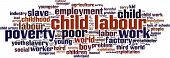 picture of labourers  - Child labour word cloud concept - JPG