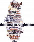 foto of domestic violence  - Domestic violence word cloud concept - JPG