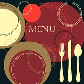 picture of dinner invitation  - Retro style invitation - JPG