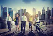 stock photo of recreation  - Business People Confidence Healthy Leisure Recreation Outdoors Concept - JPG
