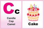 pic of kindergarten  - Alphabet letter C with clip - JPG