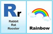 foto of kindergarten  - Alphabet letter R with clip - JPG