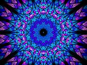 pic of higgs boson  - Oriental kaleidoscope fractal computer generated abstract background - JPG