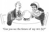foto of gypsy  - Businessman wants the gypsy to tell him the future value of his 401 - JPG
