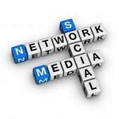 stock photo of blue white  - Social Media Network  - JPG