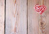 picture of lollipop  - Heart shaped lollipop for Valentine - JPG