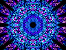 picture of higgs boson  - Oriental kaleidoscope fractal computer generated abstract background - JPG