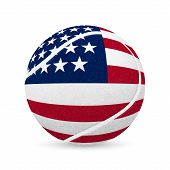 picture of flags world  - 3D tennis balls with US flag isolated on white - JPG