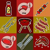 pic of tong  - Nine images of different foods  - JPG