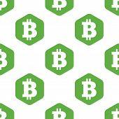 stock photo of bitcoin  - Vector bitcoin symbol in hexagon - JPG