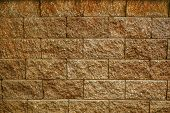 picture of stone house  - Stone wall for fence of the house - JPG