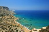 stock photo of nudism  - Coast of Crete island in Greece - JPG