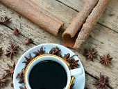 foto of senses  - Coffee background with coffee cup coffee bean on wooden background beautiful and amazing concept cafe is drinking that rich caffeine stimulate to sense mind - JPG