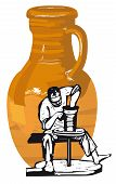 stock photo of pitcher  - Vector illustration - JPG