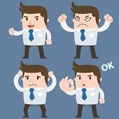 picture of feelings emotions  - Businessman cartoon emotion  - JPG