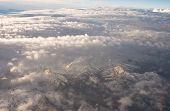 foto of andes  - Andes Mountains aerial view  - JPG