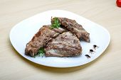 picture of roasted pork  - Roasted pork ribs with herbs and spices - JPG