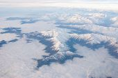 stock photo of andes  - Andes mountains and sky  - JPG