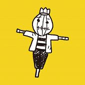 image of scarecrow  - Scarecrow Doodle - JPG