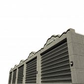 pic of self-storage  - self storage concrete units isolated on white background - JPG