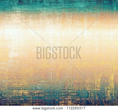 Grunge retro vintage texture, old background. With different color patterns: yellow (beige); brown;