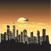 Постер, плакат: Ночной город