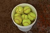 Bucket of Softballs poster