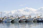 Постер, плакат: Рыбацкие лодки в гавани Гарруча Испания