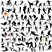 image of pole-vault  - Sport collection vector silhouettes all kinds of sport - JPG