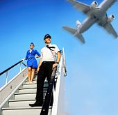 pic of cabin crew  - Picture of a beautiful cabin crew couple - JPG