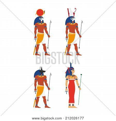 vector flat egypt