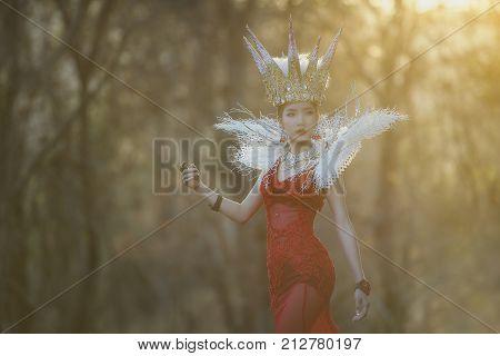 Beautiful girl wearing