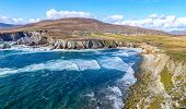 Beautiful Rural Irish Country Nature Landscape From The North West Of Ireland. Scenic Achill Island poster