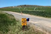 picture of klamath  - A sign displaying a no spray of chemicals in this organic farm - JPG