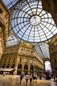 picture of milan  - The Galleria Vittorio Emanuele II in Milan Italy - JPG