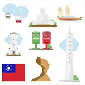 Taiwan Travel Vector poster