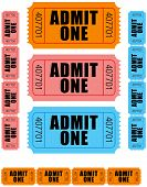 Admit One Tickets 1