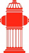 picture of firehose  - Red Fire Hydrant in case you need to put out a fire - JPG