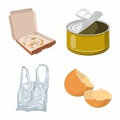 Isolated Object Of Environment And Waste Sign. Set Of Environment And Ecology Vector Icon For Stock. poster