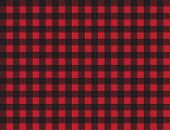 Buffalo Plaid Pattern. Red And Black Squares Seamless Background. Ruby Lumberjack Buffalo Plaid Seam poster