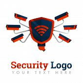 Security Logo Template For City security, Security, Prevention, Theft, Internet Industry, Cameras, poster