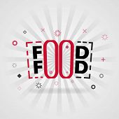 Template For Food Or Food Food Red Cover Book. Can Be Use For Food Advertising Poster And Flyer, Soc poster