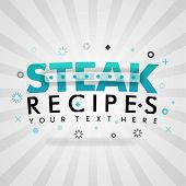 Green Logo For Steak Recipes. For Food Cover App, Booking Restaurant, Food Websites, Recipe Food, Fi poster